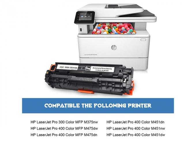 HP Compatible Toner Cartridge With 2200 / 2600 Pages Yeild CE413A Refill