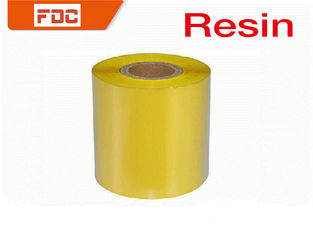 China Yellow Resin Flat Thermal Transfer Ribbon ,  Printability Zebra Ink Ribbon supplier