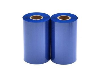 China Blue Color Zebra Printer Ribbon Used On Polyimide Label With Good Wear Resistance supplier