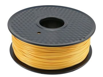 China Elastic Golden 1.75mm  Hdpe PLA 3D Printer Filament Environmentally Friendly distributor