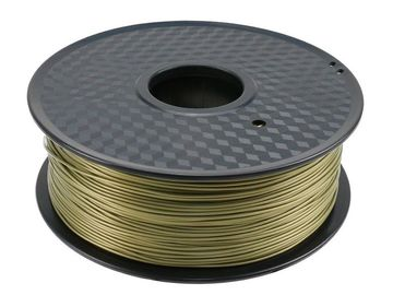 China Bronze Heat Resistant Plastic PLA Plastic Filament Safe For Reprap 3D Printer distributor