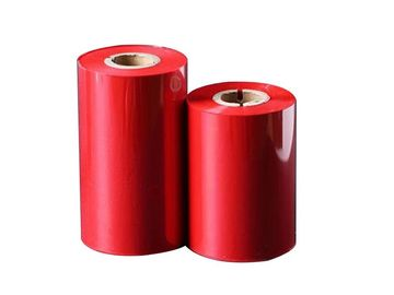 China Red Color Thermal Transfer Ribbon With 70 - 300m Length For Zebra Ribbon Printer distributor