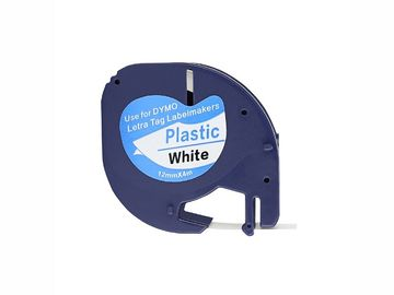 China Compatible 91201 Label Tape Cassette Black On White PET Material 12mm * 4m For Dymo distributor