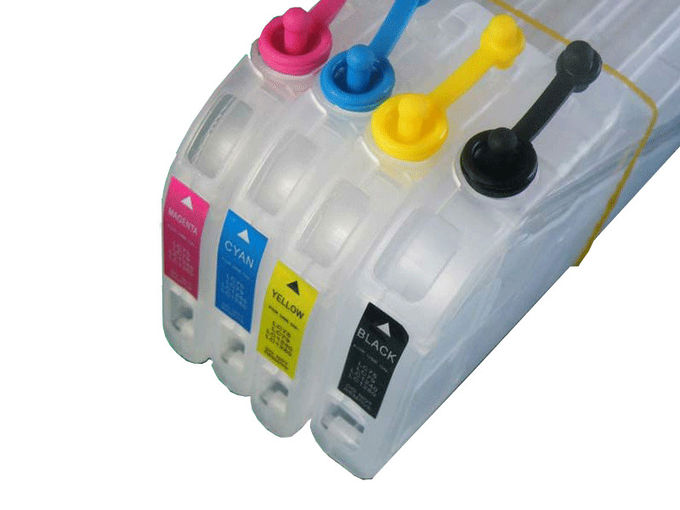 Compatible Refillable Ink Cartridges , Brother LC73 LC75 Reusable Ink Cartridges